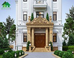 biệt thự 2 tầng kiểu pháp cổ điển