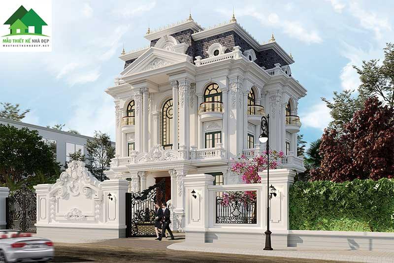 Biệt thự 3 tầng tân cổ điển sang trọng