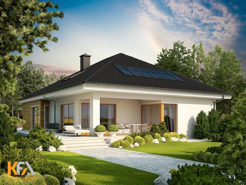 Bạn có thể thấy với mẫu nhà cấp 4 sân vườn đòi hỏi gia chủ cần có một diện tích khá lớn để tạo được không gian thoáng mát